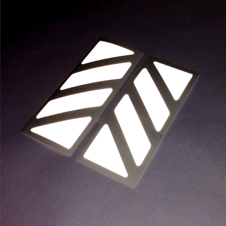 Orange 2pcs Reflective Stickers for GIVI Monokey Trekker Outback Alluminium TOP CASE 37 42 48 L