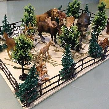 Für Schleich Farm Stall Pferdestall Kuhstall Zäune Zubehör Pferd..Paddock 54 stk
