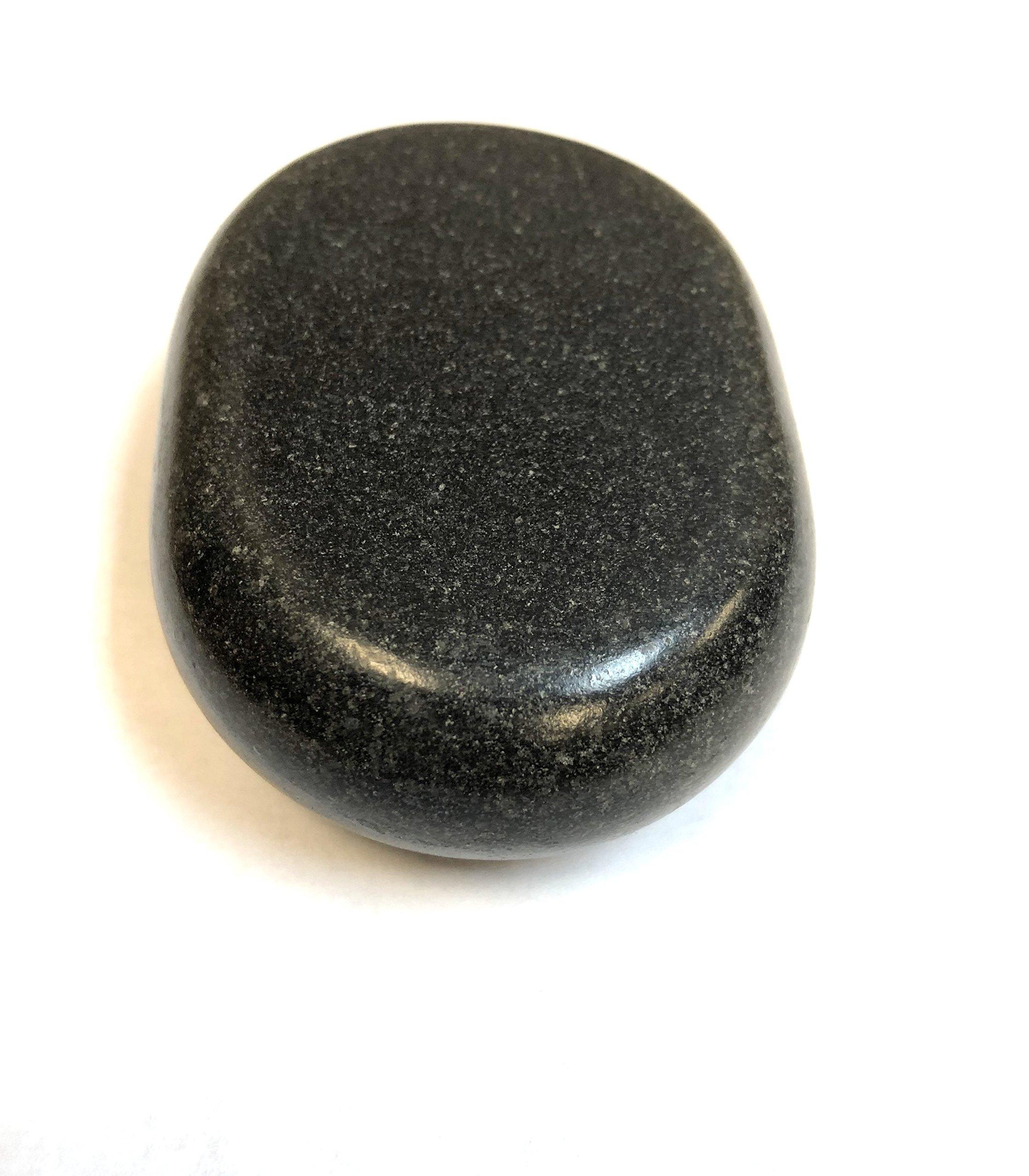 Master Massage 8 Piece Large Ovular Black Basalt Hot Stone Rock Massage Lava Energy Pack