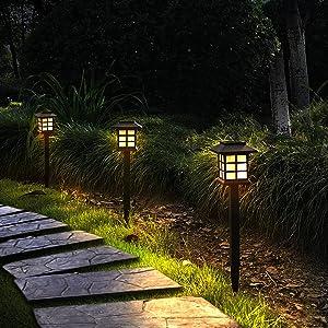 Otdair 12 Pack Solar Pathway Lights Outdoor, Waterproof Solar Garden Lights, Solar Walkway Lights for Garden, Patio, Yard, Landscape, Pathway, Driveway, Lawn(Warm White)