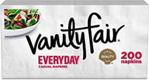 Vanity Fair Everyday Napkins, 200 Count (Packaging Design May Vary)