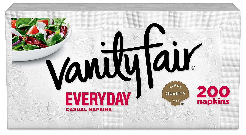 Amazon.com: Vanity Fair Everyday Napkins, 400 Count, White Paper Napkins, 2  Packs of 200 Napkins: Health & Personal Care