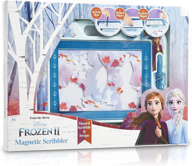 Disney Frozen 2 Pizarra Mágica Infantil para Dibujar, Juguetes Educativos para Niños 3+, Pizarras Magnéticas Infantiles Almohadilla Borrable Escritura y Dibujo Elsa y Anna, Regalos Originales
