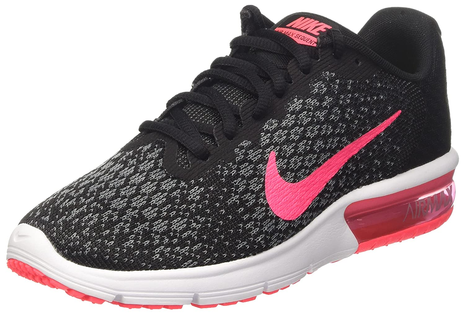 NIKE Men's Air Max Sequent 2 Running Shoe B01K2LVJ88 7.5 B(M) US|Black/Racer Pink/Anthracite/Cool Grey