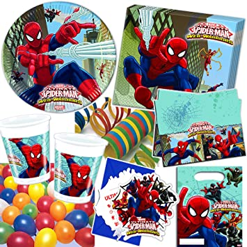 101 Juego de set de fiesta * Ultimate Spiderman Web Warriors ...