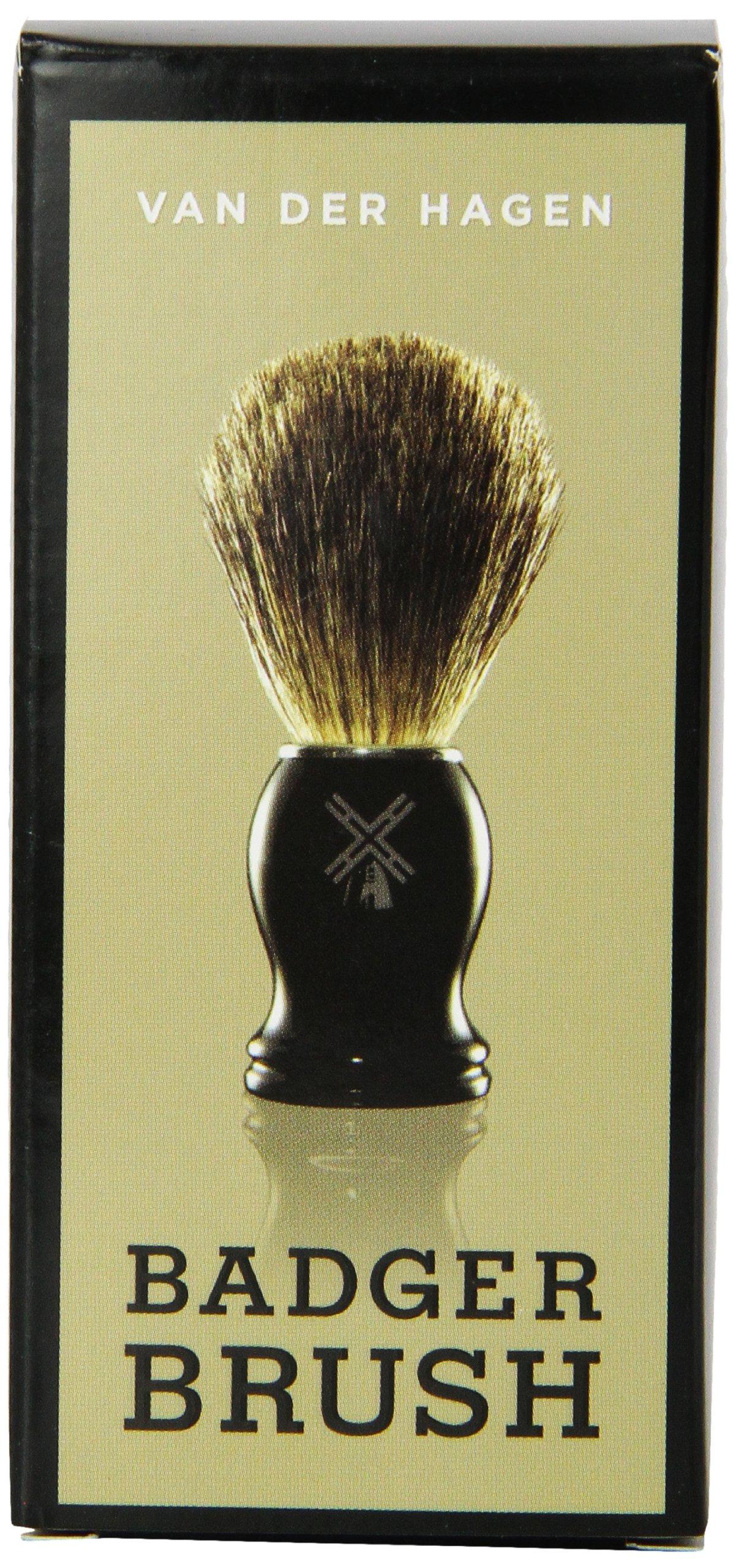 Van Der Hagen Men's Luxury, Badger Brush, 3-Ounce
