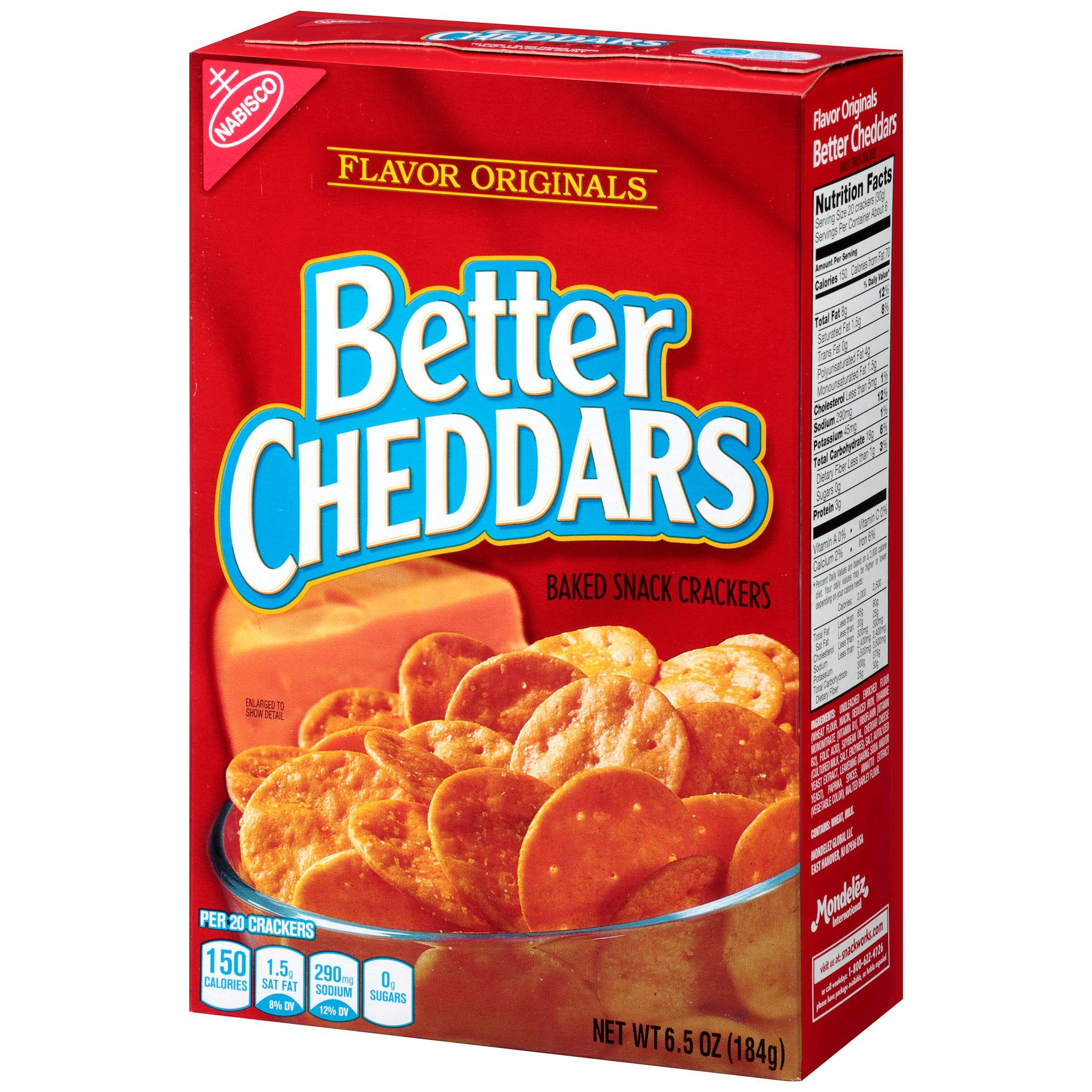 Flavor Originals Better Cheddars Baked Snack Cracker, 6.5 Ounce -- 6 per case. by Mondelez