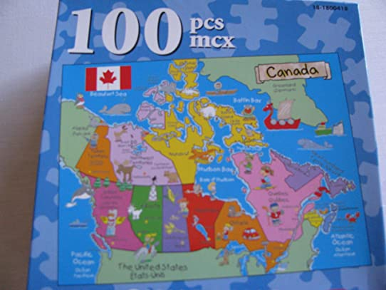 Canada Map Puzzle For Kids CasseTete Amazonca Home Kitchen - Canada map puzzles