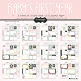 Scrapbook Customs Baby Girl First Months Scrapbooking Kit