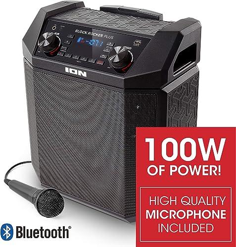 ION Audio Block Rocker Plus | 100W Portable Speaker, Battery Powered