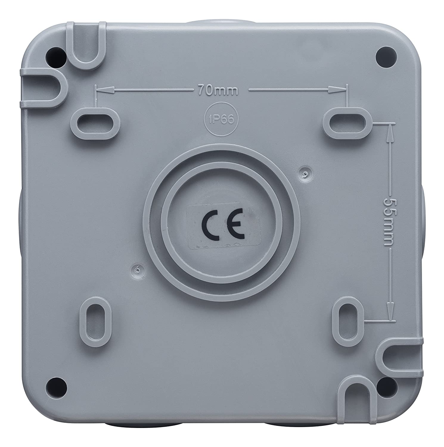 Masterplug Wpjb Outdoor Weatherproof Ip66 Junction Box 5 Pole Electrical Boxes Use Rubber Gaskets To Seal Out Weather Terminal Block Diy Tools