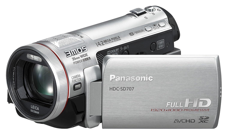 Panasonic HDC-SD707EG-S Full-HD Camcorder 3 Zoll silber: Amazon.de ...