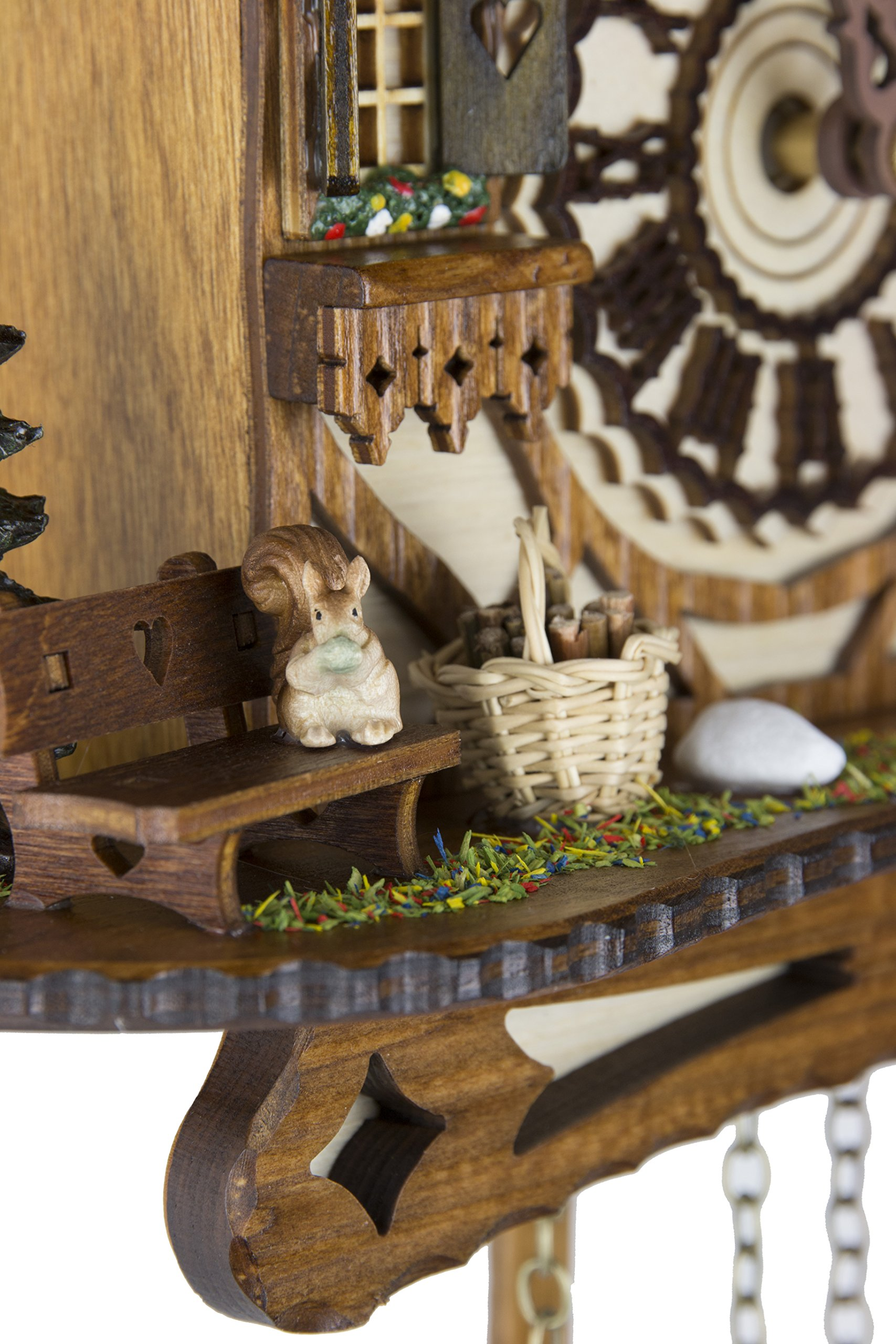 German Cuckoo Clock - Blackforest Hillside Chalet with wonderful animals - BY CUCKOO-PALACE with quartz movement - 10 1/4 inches height by Cuckoo-Palace (Image #1)