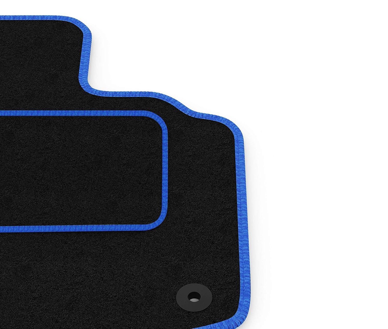FIAT PANDA 2006-2012 TAILORED CAR FLOOR MATS BLACK CARPET WITH ORANGE TRIM