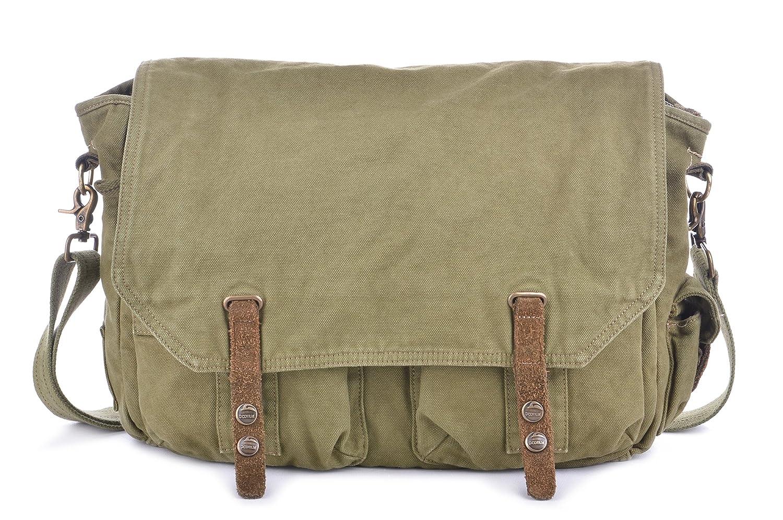 0b65c2acad new Gootium Canvas Messenger Bag - Vintage Satchel Unisex Cross body Shoulder  Bag - Fit 15.6
