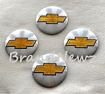 Chevrolet cromo 3d emblema rueda Centro Tapa Adhesivo Logo Badge - Tapacubos (56,5 mm Dome - Juego de 4: Amazon.es: Coche y moto