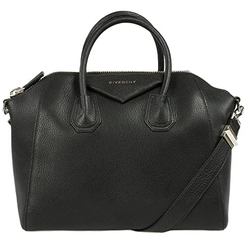 4008ddb7cfa6d Givenchy Antigona Sugar Goatskin Satchel Bag | Black w/Silver Hardware |  Medium: Amazon.ca: Shoes & Handbags