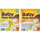 Hot-Kid Baby Mum-Mum Rice Rusks, 2 Flavor Variety Pack, Banana /Originalo, 1.76 oz, 4 count (2 of each)