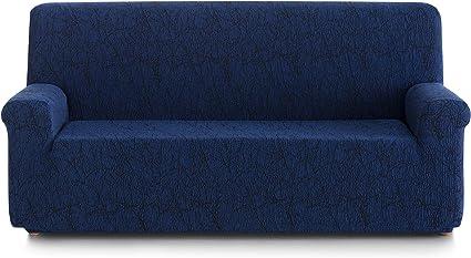 Stoff 90x210x100 cm grau Blindecor Picasso Schutzh/ülle aus elastischem Sofa 4/Sitzer