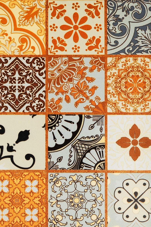 Bunte Mosaikfliesen Design als Deko f/ür die Wand im Badezimmer K/üche Marokkanische Fliesen Wandfliesen bunt 1 Stk Muster 10 Orientalische Fliese als Wanddekoration im Bad oder K/üchenr/ückwand