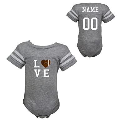 Image Unavailable. Image not available for. Color  Personalized Football  Love Jersey Bodysuit ... 53920db59