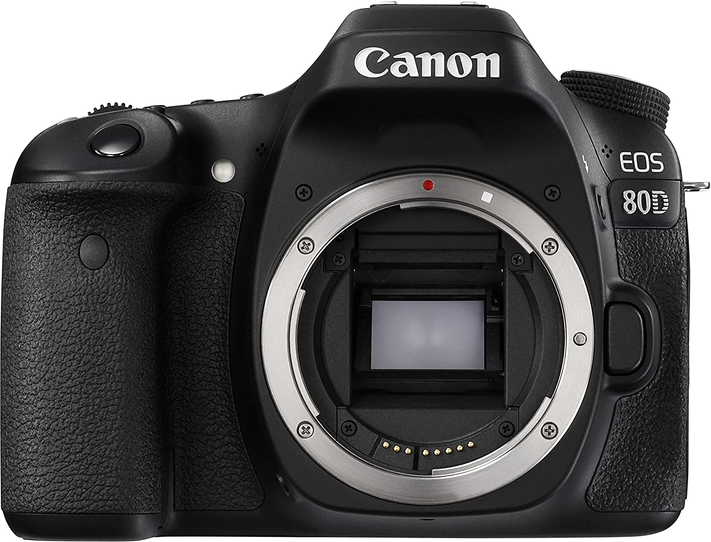 Canon EOS 80D BODY Fotocamera Reflex Digitale da 24.2 Megapixel, Nero/Antracite [Versione Canon Pass Italia]