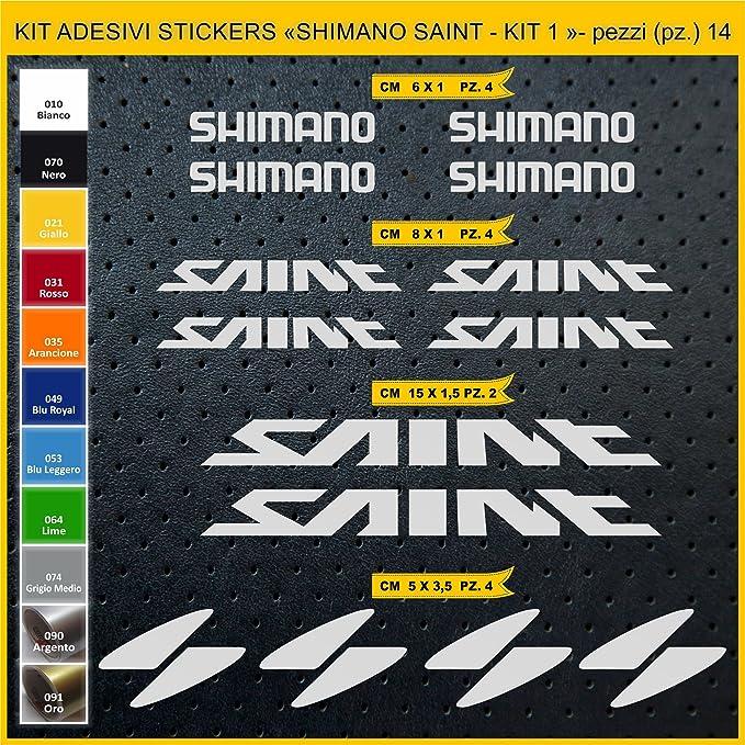 Kit Pegatinas Stickers Bicicleta Shimano Saint -Kit 1-14 Piezas ...