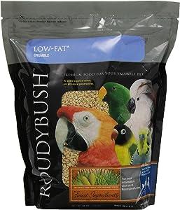 RoudyBush Low Fat Bird Food, Crumbles, 44-Ounce