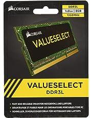 Corsair CMSO8GX3M1C1333C9 Value Select 8 GB (1 x 8 GB) DDR3L 1600 Mhz Unbuffered C9 204 Pin SODIMM Module -Green