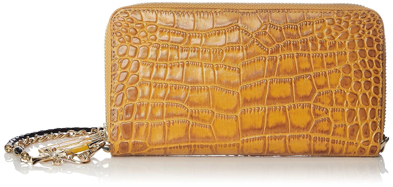 24e0dd576942 Amazon   [ルミニーオ] メンズ 長財布 ラウンド ダブルジップ クロコダイル 型押し 本革 ウォレットロープ チェーン [ブランド]  luyon150106 (イエロー)   財布