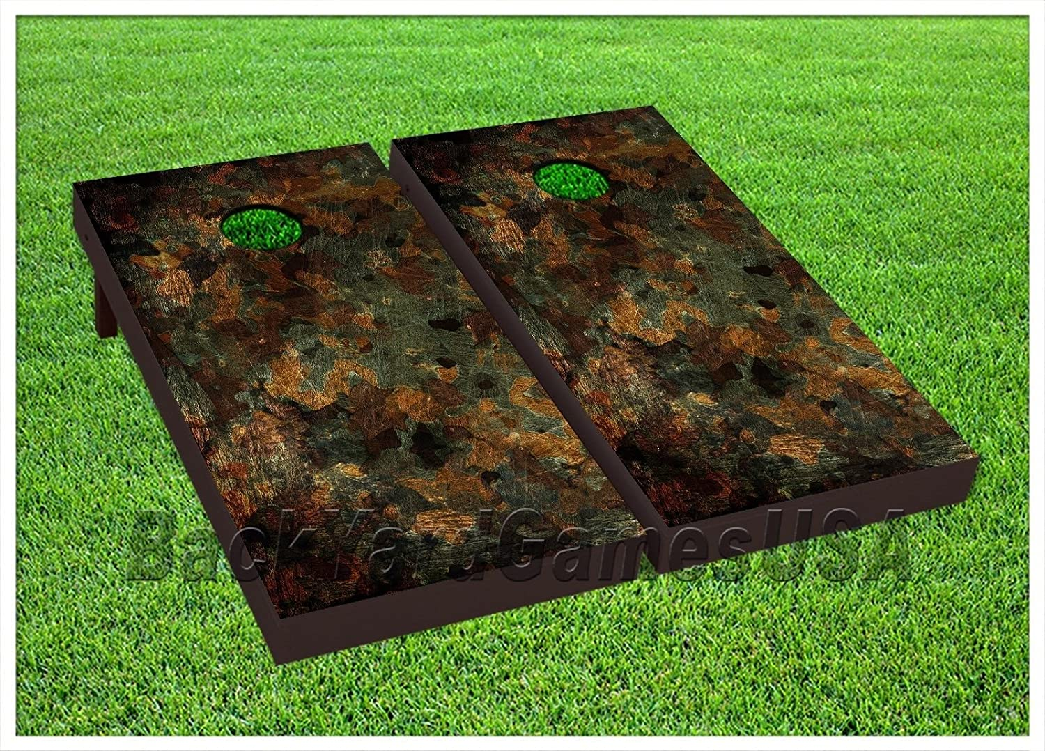 Camo Cornhole Boards Beanbag Toss Game W Bags Rustic Camouflage Hunting Set 218