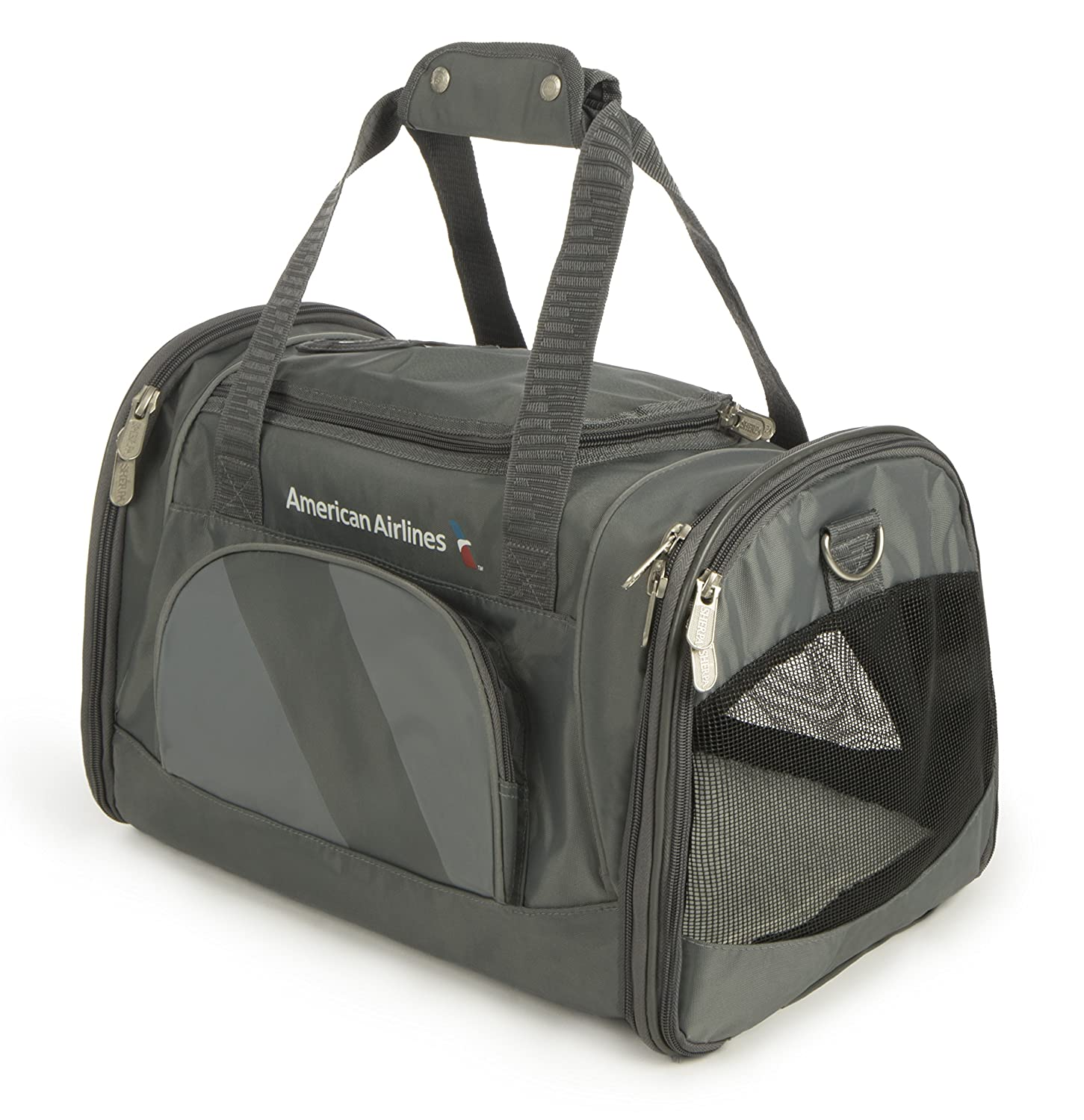 Sherpa American Airlines Duffel Airline Approved Pet Carrier, Medium, Charcoal
