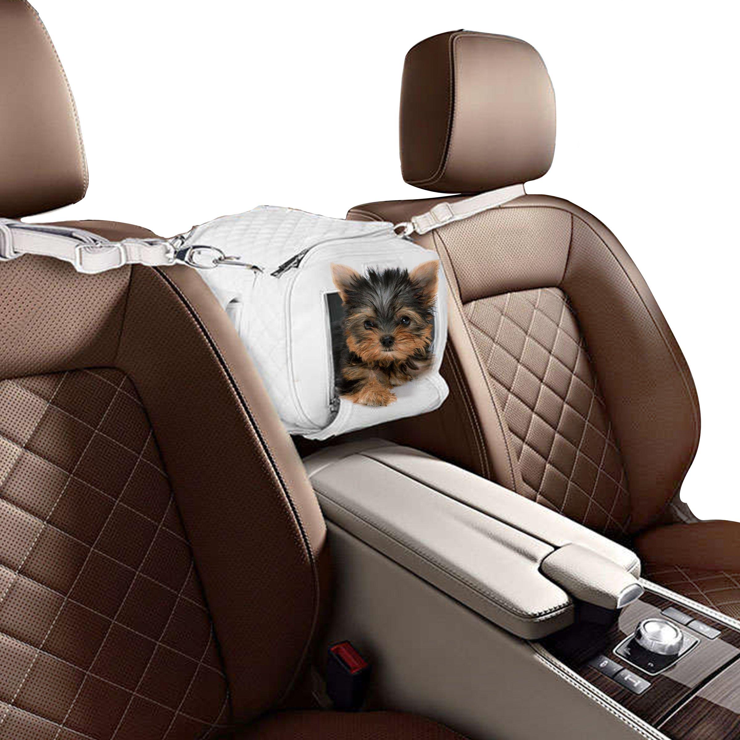 ZuGoPet Jetsetter small - Airport approved dog bag, soft sided pet carrier, travel bag, Dog Carrier, Airline compliant Pet Bag, Dog car seat, dog Handbag, Dog Purse, Pet Bag, Cat Bag (SNOW WHITE)