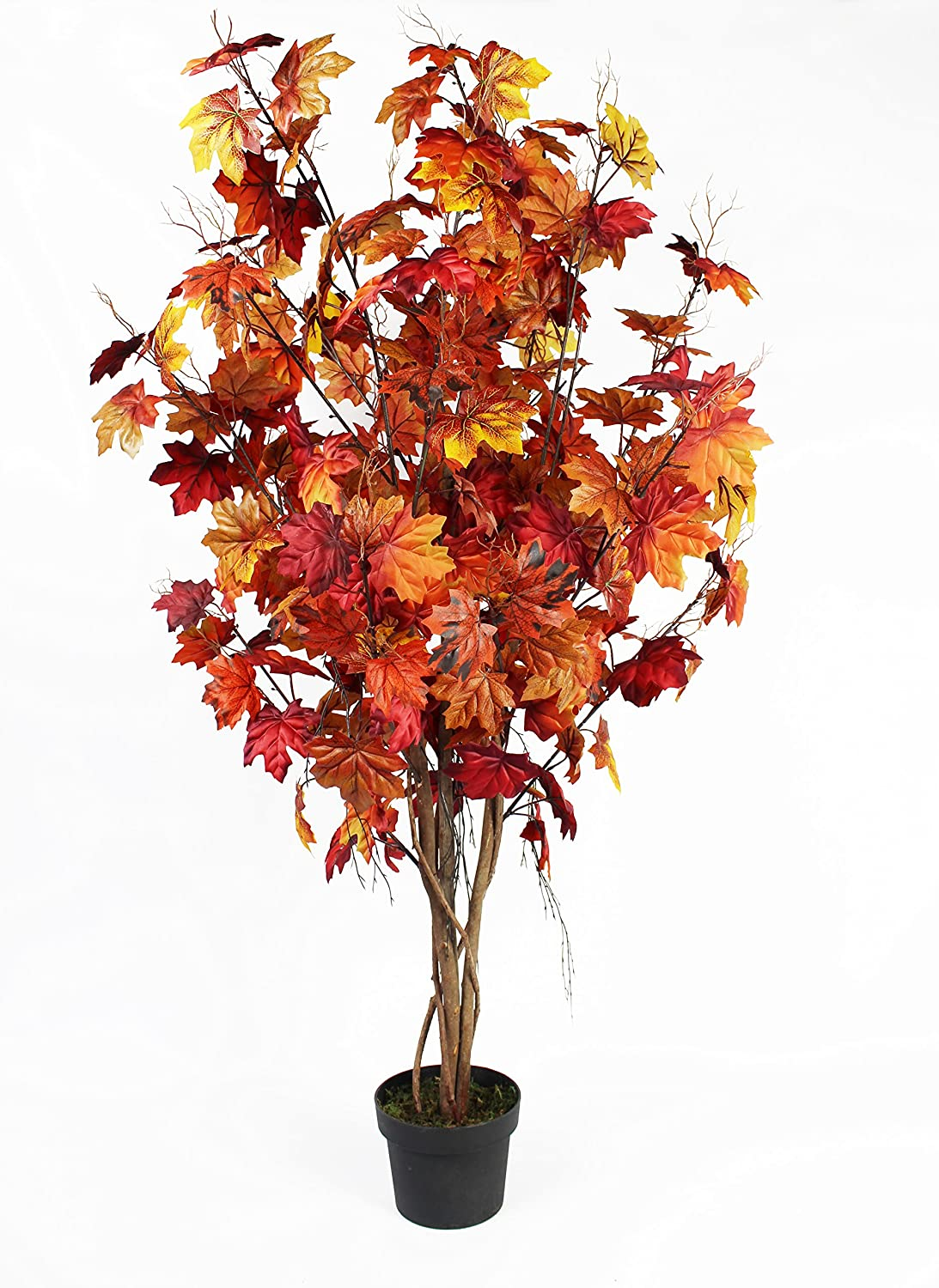 Artificial Japanese Maple Tree 4ft/120cm with Real Wood Trunk Greenbrokers Limited 164839