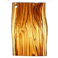 KITCHEN 柚木切割板,奢华 - 一块实心,超耐用,5 年质保-天然原边。