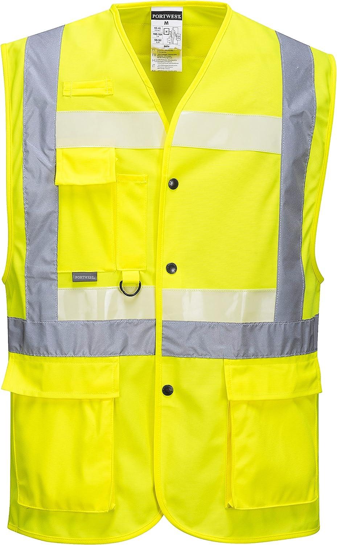 Portwest G476yerxxxl Serie G476 Glowtex Executive Weste Regular Größe 3 X Große Gelb Bei Günstiger Preis Kostenloser Versand Ab 29 Für Ausgewählte Artikel