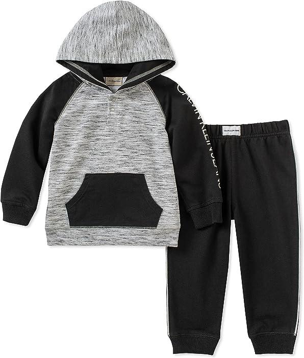 16cc473dc5d6 Amazon.com  Calvin Klein Baby Boys 2 Pieces Hooded Jog Pant Set ...