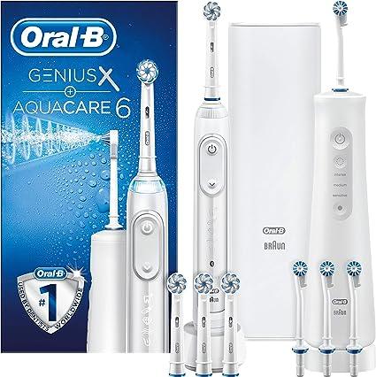 Oral-B Power Aqua Care Pro-Expert Agua Dental Y Cepillo De Dientes Éctrico Genius000 1990 g: Amazon.es: Salud y cuidado personal