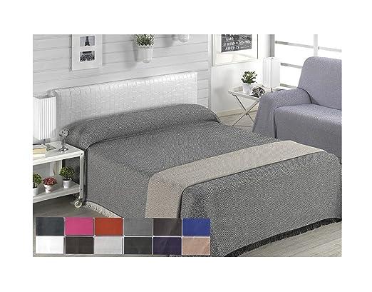 Colcha multiusos / Cubre sofás / Sobrecamas y colchas / Manta color liso para sofá 3 plazas o cama 135-150cm (220 x 260 cm, WENGUE)