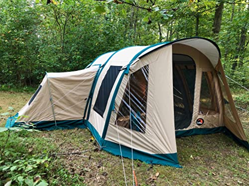 Wildcat Outdoor Gear Premium Family Camping Tent 100 Waterproof Sleeps 4-10 Loaded with Features Sets Up in Minutes Lynx 640