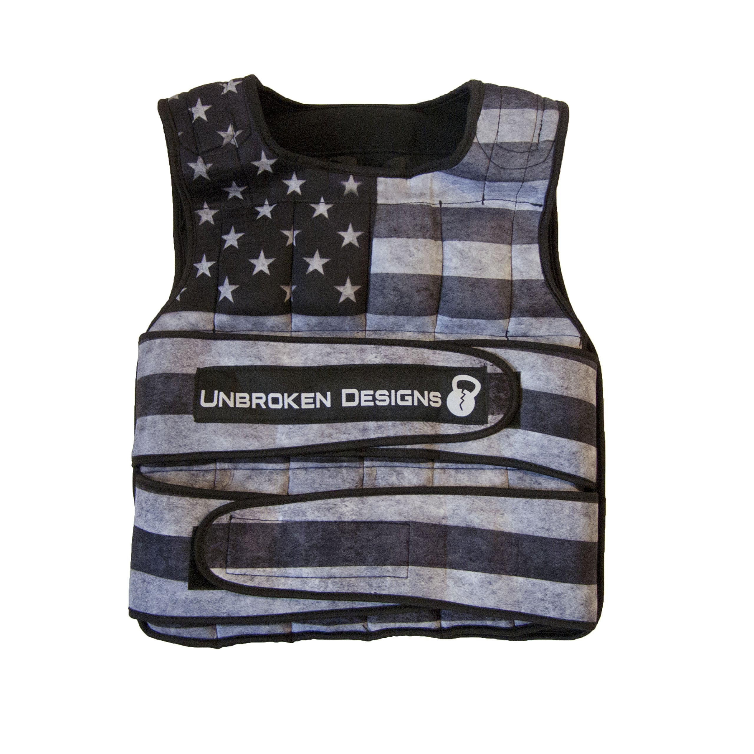 Unisex 40lbs Star and Stripes Weight Vest-Adjustable Weight Jacket for Resistance Training, Neoprene Weight Vest, Boxing Training Fitness, Shapewear and Tummy Controller, Weight Closure