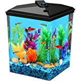 Koller Products AquaView 2.5-Gallon Fish Tank with LED Lighting and Power Filter