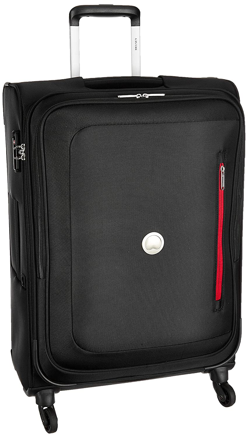Delsey Polyester 56 cms Black Softsided Cabin Luggage (00352880100)