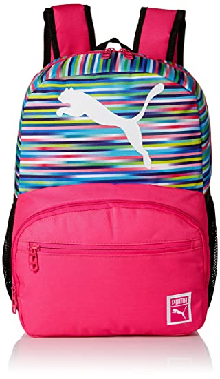 PUMA Girls' Little Backpacks, Lunch Boxes, and Bags, Pink/Multi, Youth