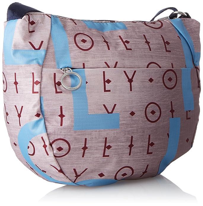Oilily - Groovy Shoulderbag Shz, Bolsos bandolera Mujer, Grau (Grey), 10x22.5x25 cm (B x H T): Amazon.es: Zapatos y complementos