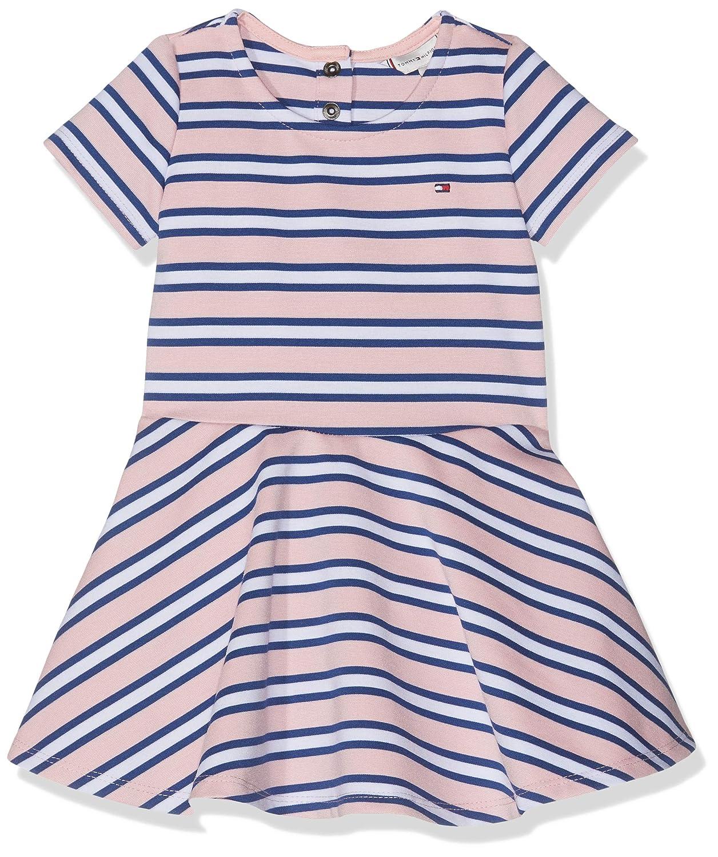 Tommy Hilfiger Baby-M/ädchen Kleid Essential Stripe Skater Dress