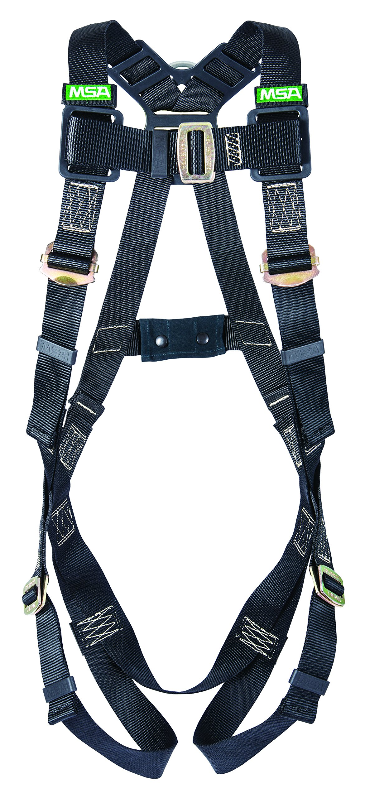 MSA 10152652 Workman Arc Flash Vest-Style Harness with Back Steel D-Ring and Qwik-Fit Leg Straps, Standard