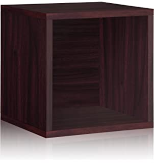 Perfect Vinyl Record Storage Cube Extra Large Stackable LP Record Album Shelf,  Espresso