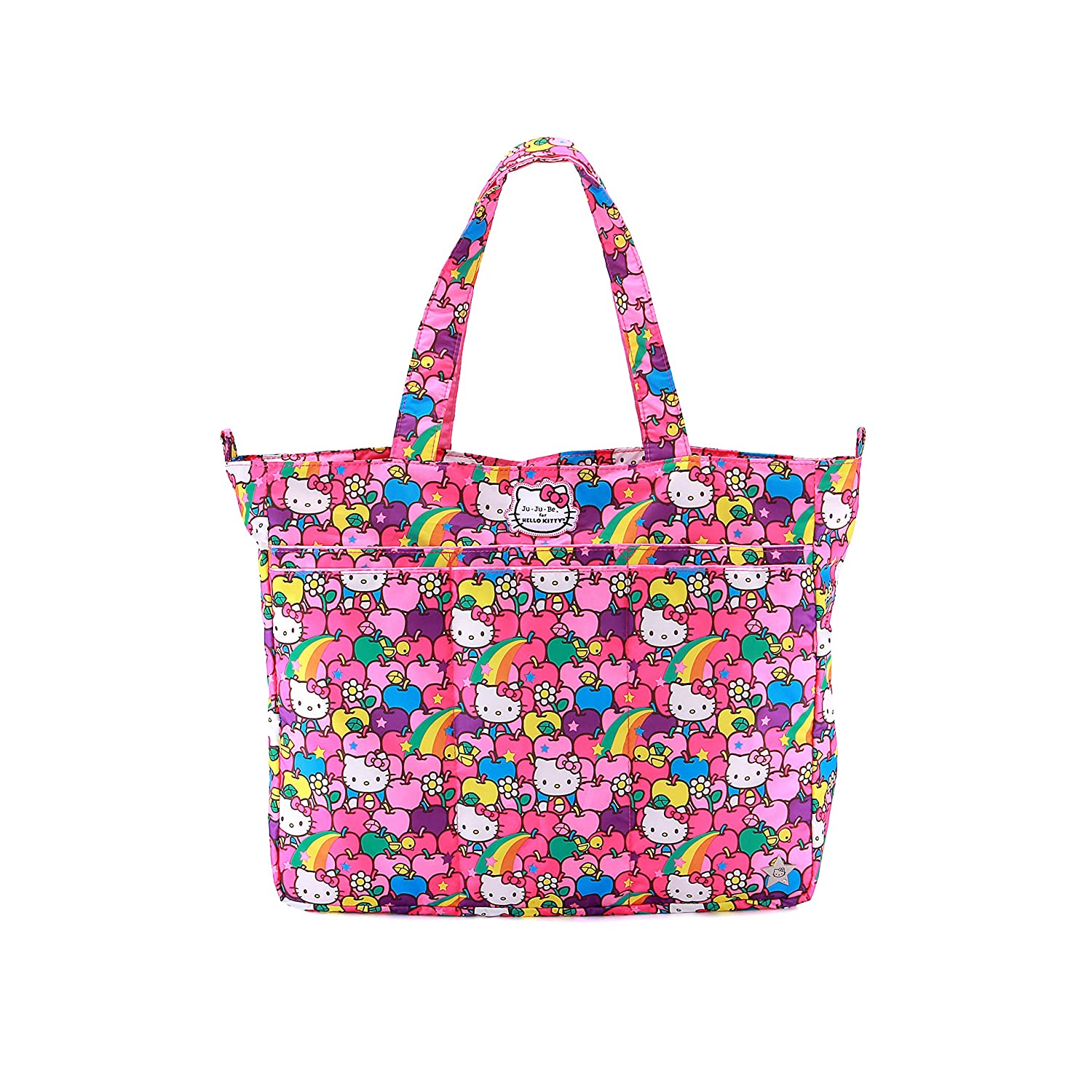 fb7d8918e6d Amazon.com  Ju-Ju-Be Hello Kitty Collection Super Be Zippered Tote Diaper  Bag, Lucky Stars  Baby