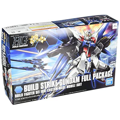 Bandai 1/144 Scale Kit HG Build Fighters 001 Build Strike Gundam Full Package: Toys & Games